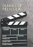 Diario de películas Cuaderno de cine para cinéfilos: libro de registro para tus reseñas de películas y series vistas. Regalo para amantes del cine. A5.