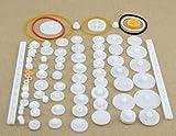 LIXUDECO Engranajes 75PCS / Lot, Engranajes de plástico, Estante, polea, Correa, Engranaje helicoidal, Simple y Doble de Engranajes