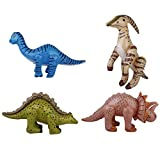 harayaa Piscina Inflable de La Fiesta de Cumpleaños del Modelo del Dinosaurio del Dinosaurio 4pcs