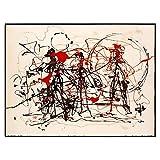 Citon Jackson Pollock 《Ensayo de expresionismo abstracto》 Lienzo Pintura de arte moderno Impresión de arte Póster Imagen Pared Decoración del hogar 50x75cm Sin marco