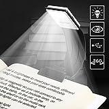Libro de Lectura, Lámpara, lectura, recargables LED libro lámpara con clip y 4Elaborar brillo ajustable portátil y flexible trabajo Leuchten para Amazon Kindle/Ebook Reader/portatil/iPad etc. Negro