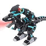 Dinosaurio de Control Remoto para niños Juguetes electrónicos de Dinosaurios RC Programables interactivos con Luces y Sonido Juguete de Dinosaurio robótico Regalo para niños Lanzadores de misiles y