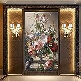 Mrlwy Papel tapiz fotográfico personalizado jarrón 3D pintura al óleo floral murales sala de estar entrada telón de fondo papel de pared para paredes 3 D-300x210CM