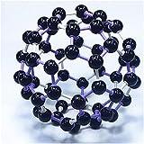 DERUKK-TY Modelo de Carbono 60 - Modelo Molecular de química orgánica - Modelo de Cristal químico Enseñanza de divulgación científica
