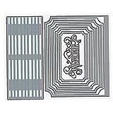 TOSSPER Troqueles De Corte 1pc, Libro Fabricante De Metal De La Plantilla para Bricolaje Y Litografías Relieve Tarjetas Arte De Papel