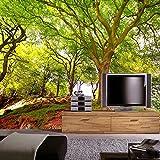 Mrlwy Papel tapiz 3D paisaje natural bosque verde foto mural sala de estar sofá TV telón de fondo pared decoración del hogar papel tapiz-150x120CM