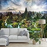 Mrlwy Papel tapiz mural personalizado 3D naturaleza paisaje montañas y ríos pintura de pared sala de estar dormitorio decoración del hogar-150x120CM