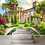 Mrlwy Papel tapiz 3D Roma columna jardín paisaje foto pared Mural sala de estar dormitorio Interior decoración del hogar papel de pared para pared 3D-400x280CM
