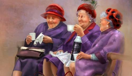 tres abuelas y un cocinero muerto