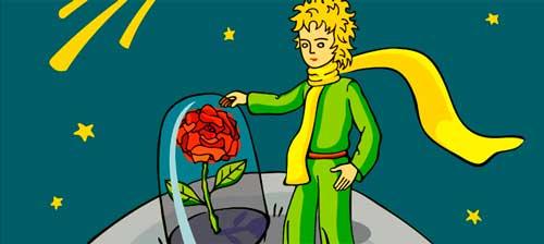 el principito la rosa